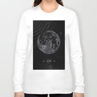 the moon Long Sleeve T-shirts featuring MOON by Alexander Pohl