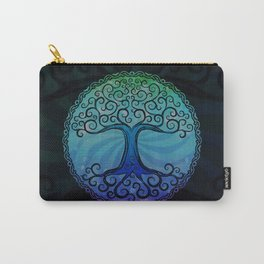 Tree of Life - Cool Blue Carry-All Pouch
