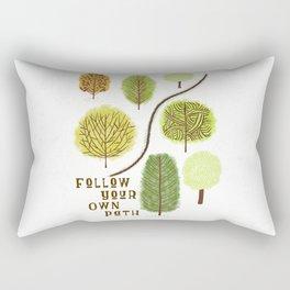 Follow Your Own Path Rectangular Pillow
