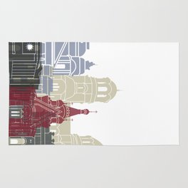 Sofia skyline poster Rug