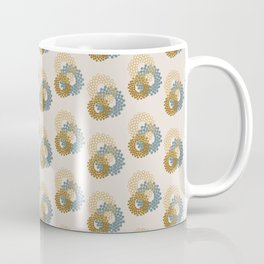 Flower Power surface pattern (blue-yellow) Coffee Mug