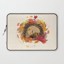Hedgehog in Autumn Leaves Laptop Sleeve