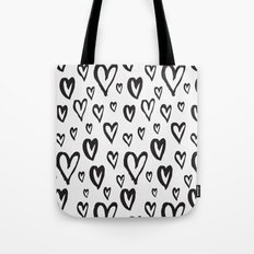Inky Dinky Hearts Tote Bag