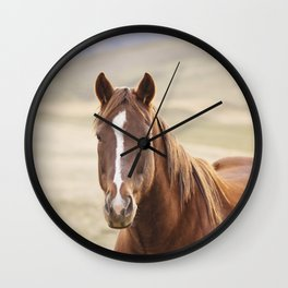 Colorful Western Horse Photo Wall Clock