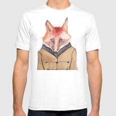Brer Fox MEDIUM White Mens Fitted Tee