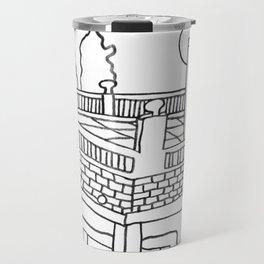 Beautiful Mediterranean Rooftop Escape Travel Mug