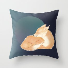 Happy Day Dreams Baby Fox Throw Pillow