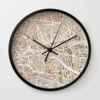 berlin Wall Clocks featuring Berlin by Mapsland