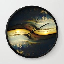 Sunset Yin Yang Wall Clock