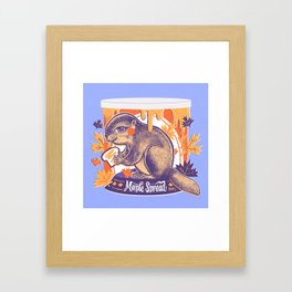 Beaver in a can Framed Art Print