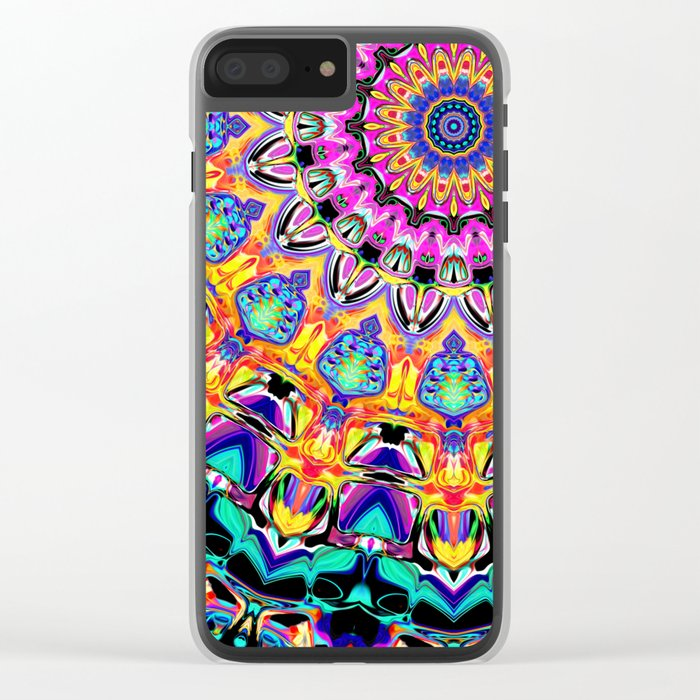 Ornate Spectral Abstract Clear iPhone Case