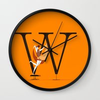 eames Wall Clocks featuring Willow & Eames by ChicksAndType