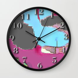 Abstract #13 in Pink Wall Clock