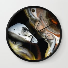 Janus - God of Beginnings, transitions, and duality - Original Abstract Painting Wall Clock