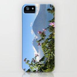 Lago Atitlan and flowers iPhone Case