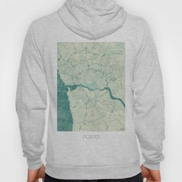 Porto Map Blue Vintage Hoody