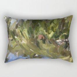 Pond at Beacon Hill Rectangular Pillow