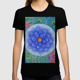 Violet Flower Mandala T-shirt