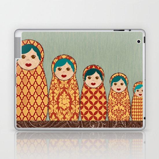 Red and Yellow Matryoshka Nesting Dolls Laptop & iPad Skin