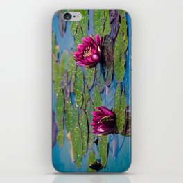 Two water lilies iPhone Skin