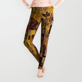 Kiss Klimt Cats Leggings