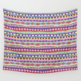 Stripey-Coolio Colors Wall Tapestry