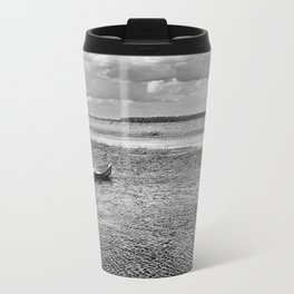 Natural bucolic view in Biebrza wetland Travel Mug