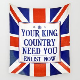 Vintage poster - Your King and Country Need You Wall Tapestry