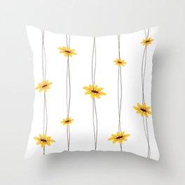 Simple Sunflower String Throw Pillow