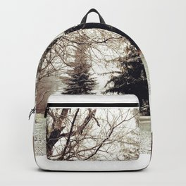 Winter Wonderland in Michigan Backpack