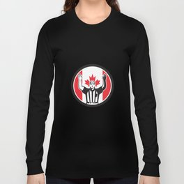 Canadian Football Referee Canada Flag Icon Long Sleeve T-shirt