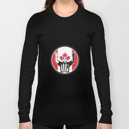 Canadian Football Referee Canada Flag Icon Long Sleeve T-shirt