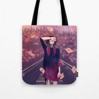 letter Tote Bags featuring letter by Juli Gm
