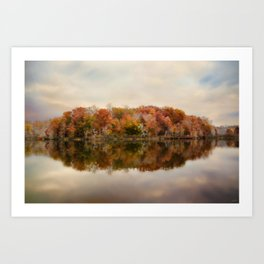Autumn At Lake LaJoie 4 Art Print