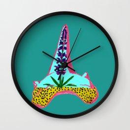 Shark Tooth Terrarium 4 Wall Clock