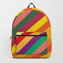 Retro Rainbow Lines Backpack
