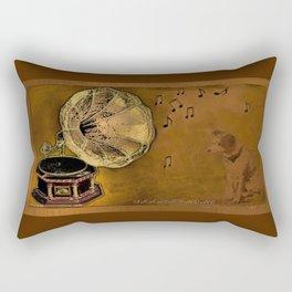 His Master's voice Rectangular Pillow