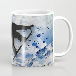 Snowboarder In Flight Coffee Mug