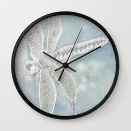 Iced Dragonfly Wall Clock
