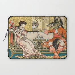 Vintage Beauty and the Beast Children's Book Illustration, 1896, Walter Crane Laptop Sleeve
