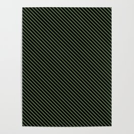 Kale and Black Stripe Poster