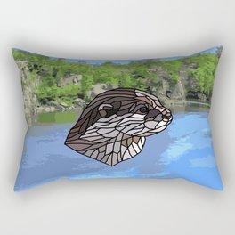 Llyca Queen of the Rivers - Mosaic Otter Rectangular Pillow