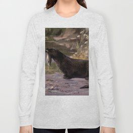 Vintage Otter Painting (1909) Long Sleeve T-shirt