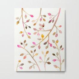 Pastel Leaves Metal Print