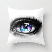universe Throw Pillows featuring universe by Ryky