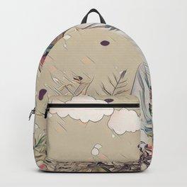 Floral cat Backpack