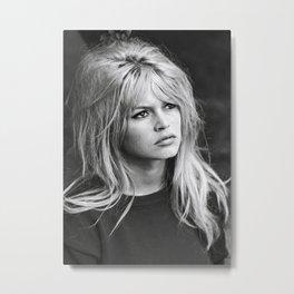 Brigitte Bardot Retro Vintage Art Metal Print