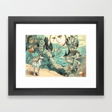 Last Unicorn Journey  Framed Art Print