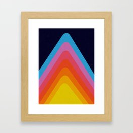 Colorful Peaks Framed Art Print
