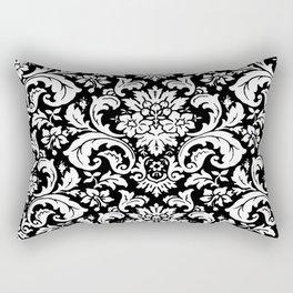 Damask Paisley Black and White Paisley Pattern Vintage Rectangular Pillow